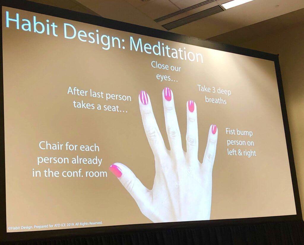 Habit Design Voorbeeld