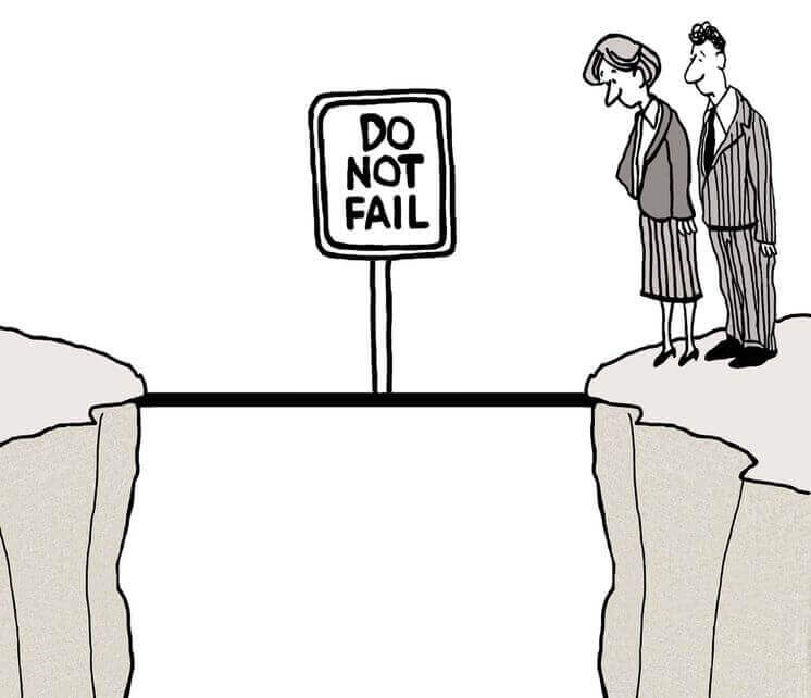 : <a href='https://nl.123rf.com/profile_andrewgenn'>andrewgenn / 123RF Stockfoto</a> cartoon do not fail