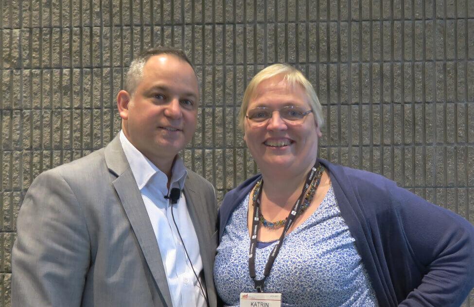 Todd Tauber(Degreed) en Katrin Naert op ATD 2017