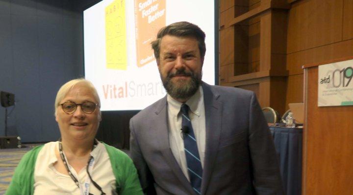 Charles Duhigg and Katrin Naert at ATD 2019 -) Washington DC